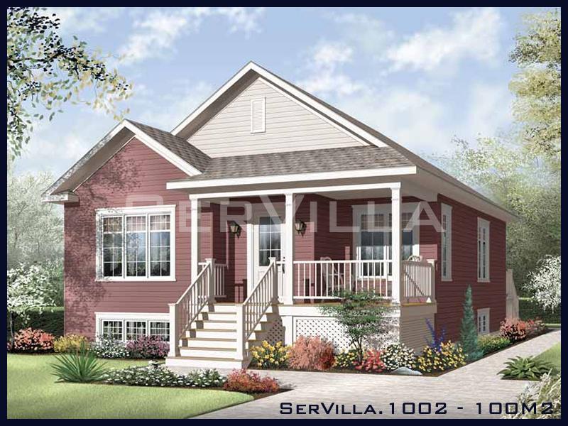 100 m2 Çelik Konstrüksiyon Villa Modeli 2