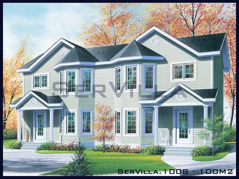 100 m2 Çelik Konstrüksiyon Villa Modeli 8