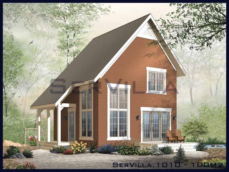 100 m2 Çelik Konstrüksiyon Villa Modeli 10