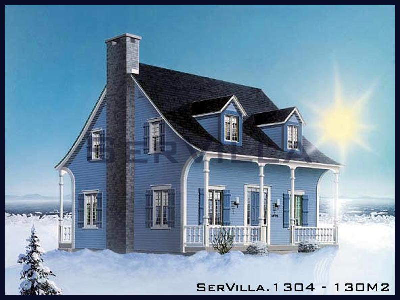 130 m2 Çelik Konstrüksiyon Villa Modeli 4