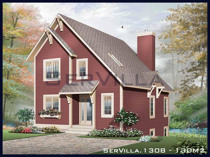 130 m2 Çelik Konstrüksiyon Villa Modeli 8