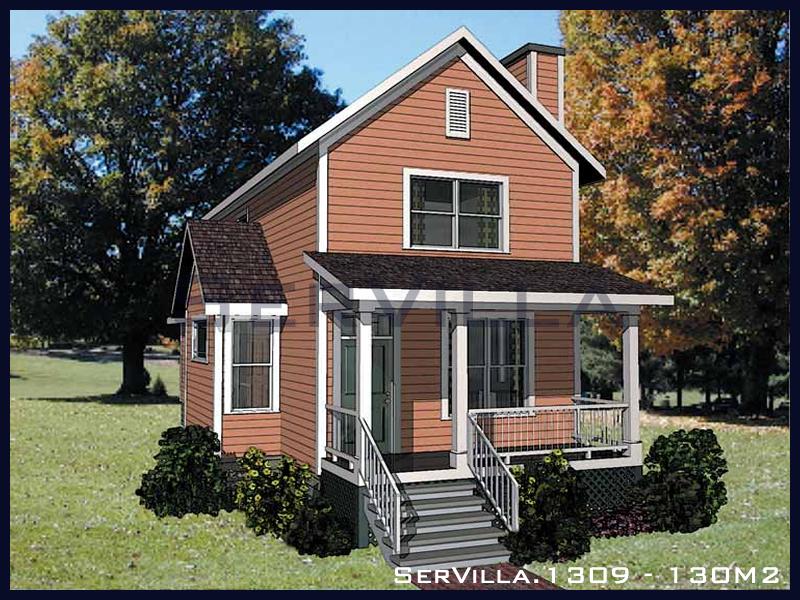 130 m2 Çelik Konstrüksiyon Villa Modeli 9