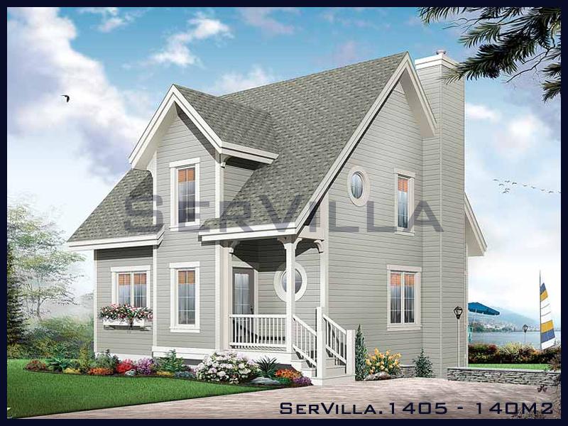 140 m2 Çelik Konstrüksiyon Villa Modeli 5