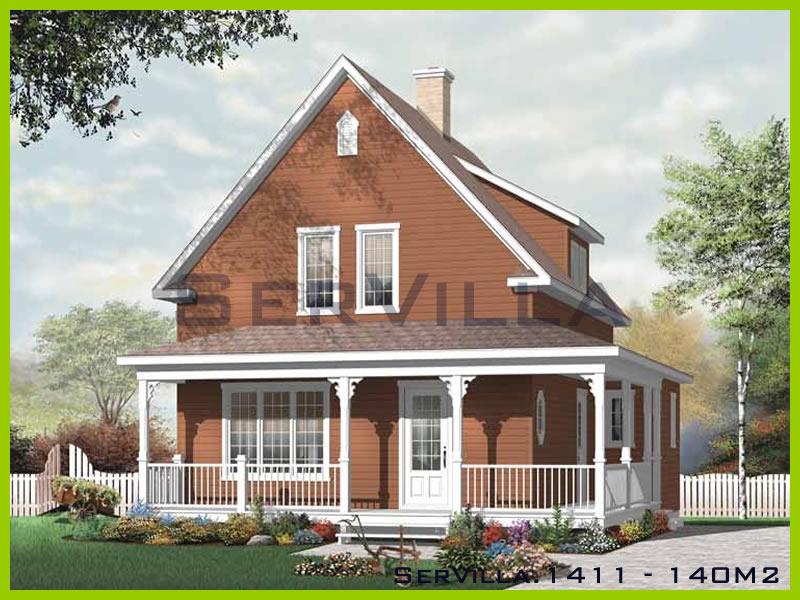 140 m2 Çelik Konstrüksiyon Villa Modeli 11