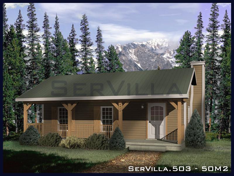 50 m2 Çelik Konstrüksiyon Villa Modeli 3