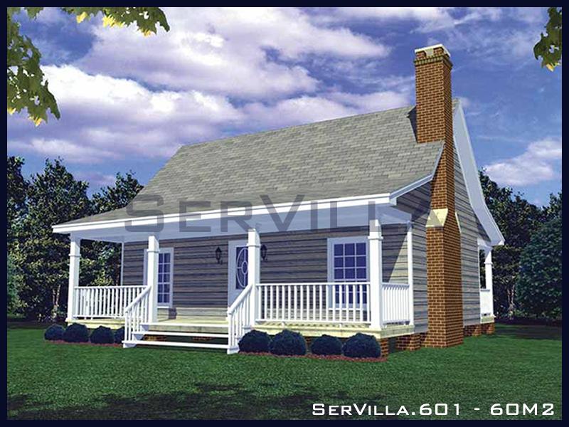60 m2 Çelik Konstrüksiyon Villa Modeli 1