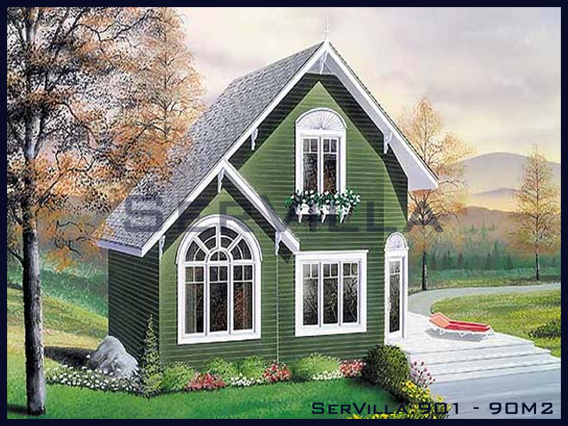 90 m2 Çelik Konstrüksiyon Villa Modeli 1
