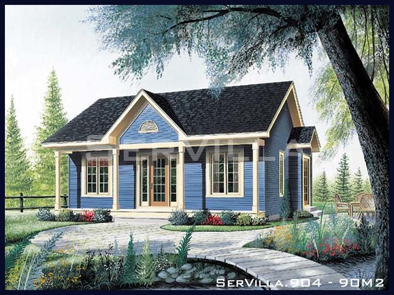 90 m2 Çelik Konstrüksiyon Villa Modeli 4
