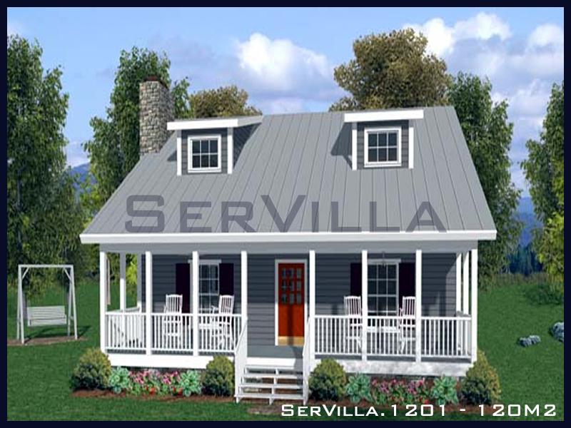 120 m2 Çelik Konstrüksiyon Villa Modeli 1