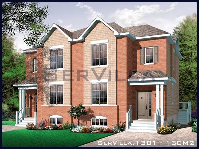 130 m2 Çelik Konstrüksiyon Villa Modeli 1