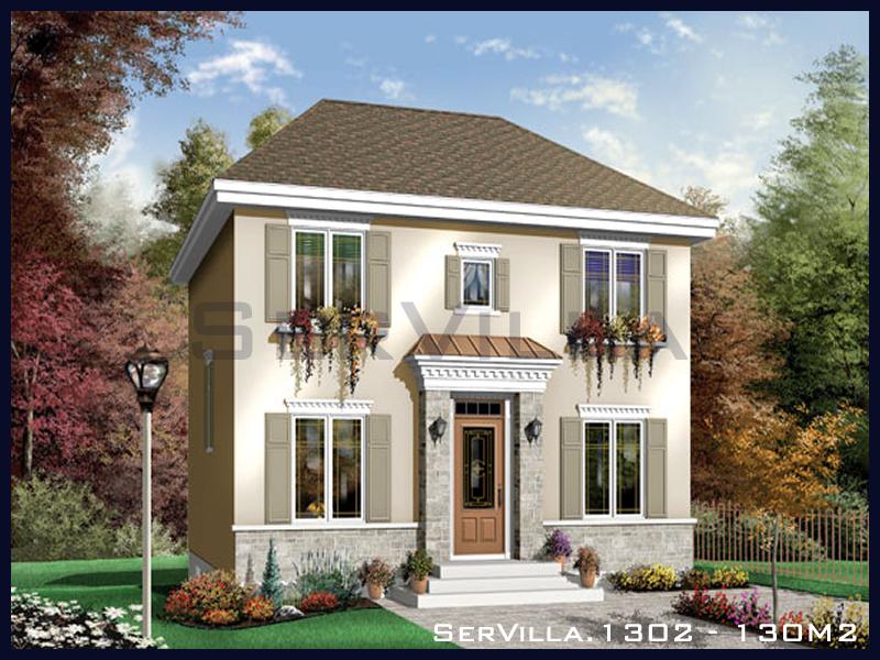 130 m2 Çelik Konstrüksiyon Villa Modeli 2