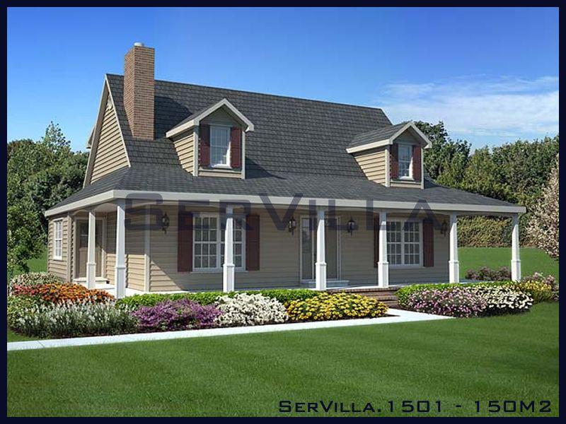 150 m2 Çelik Konstrüksiyon Villa Modeli 1