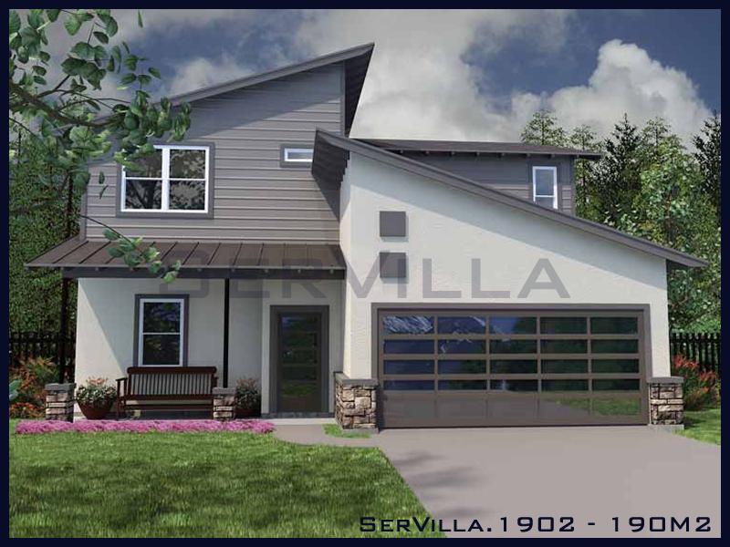 190 m2 Çelik Konstrüksiyon Villa Modeli 2