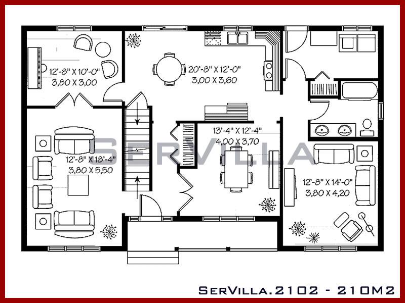 210 m2 Çelik Konstrüksiyon Villa Modeli 2