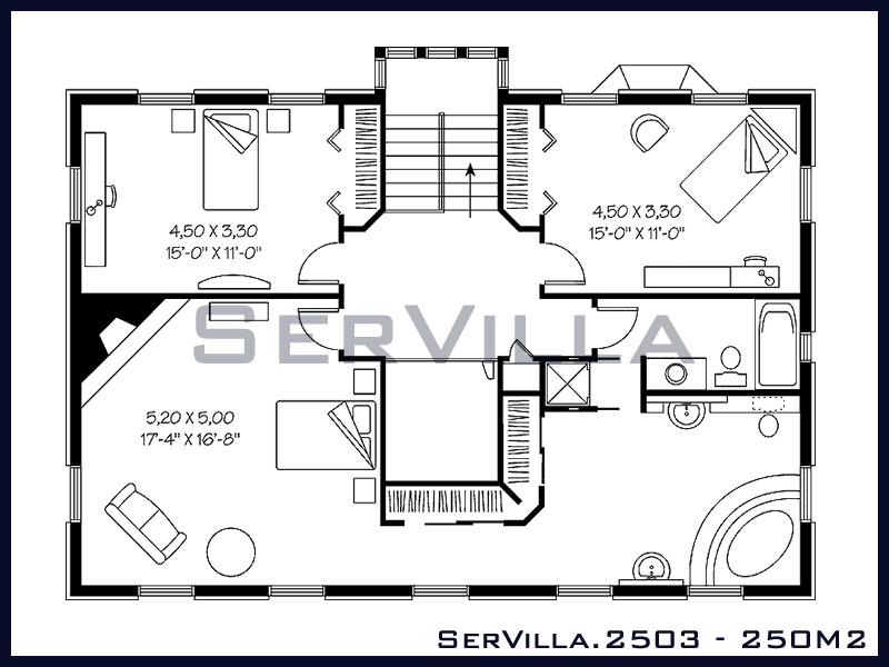 250 m2 Çelik Konstrüksiyon Villa Modeli 3
