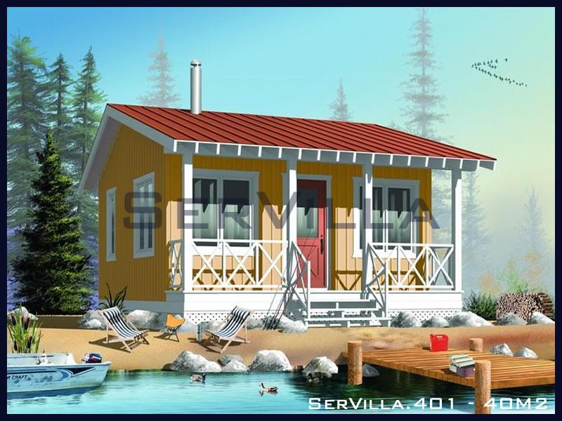 40 m2 Çelik Konstrüksiyon Villa Modeli 1