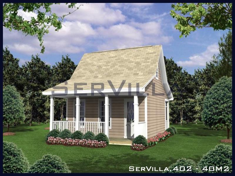40 m2 Çelik Konstrüksiyon Villa Modeli 2