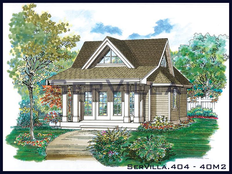 40 m2 Çelik Konstrüksiyon Villa Modeli 4