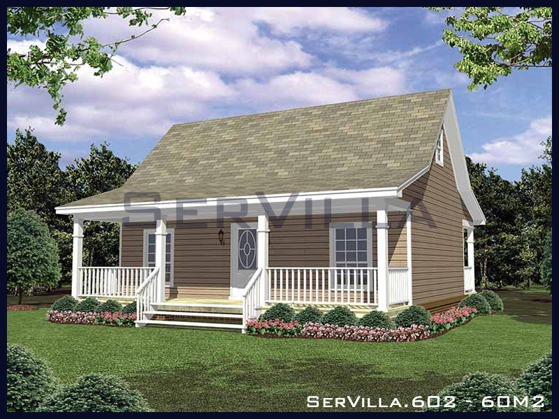 60 m2 Çelik Konstrüksiyon Villa Modeli 2