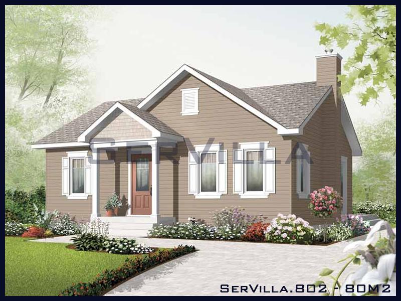80 m2 Çelik Konstrüksiyon Villa Modeli 2